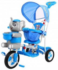 Rowerek 3 Kołowy Szczęśliwy Słoń Niebieski