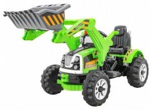 Pojazd Koparka Traktor Zielona