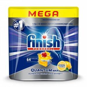 Finish Quantum Max 64 szt. Detergent do zmywania naczyń+nabłyszczacza+sól Tabletka