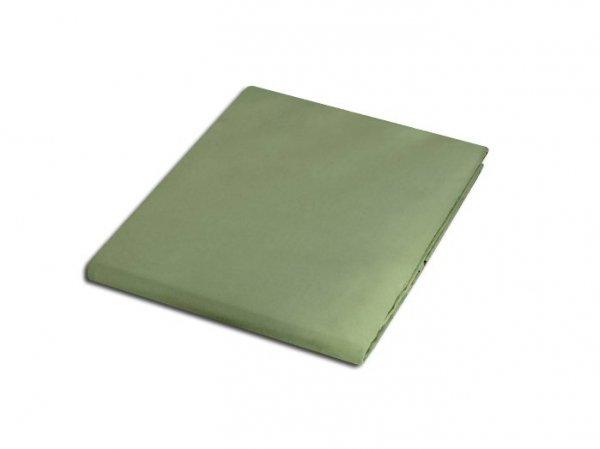 Prześcieradło satyna bawełniana 200x220 cm kolor oliwka