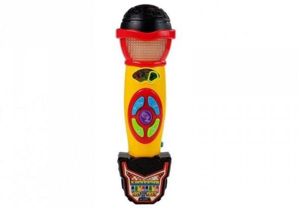 Mikrofon Żółto- Czarny Karaoke Nagrywający Piosenki