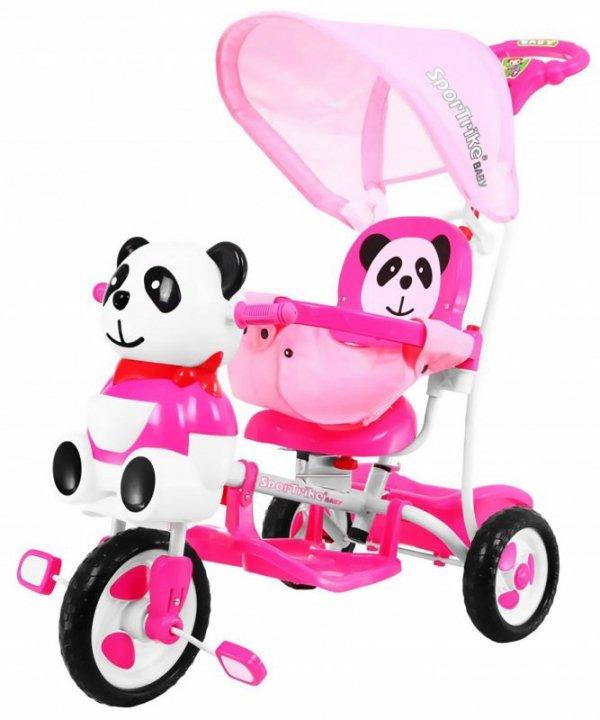 Rowerek 3 Kołowy PANDA A23-2 Różowy
