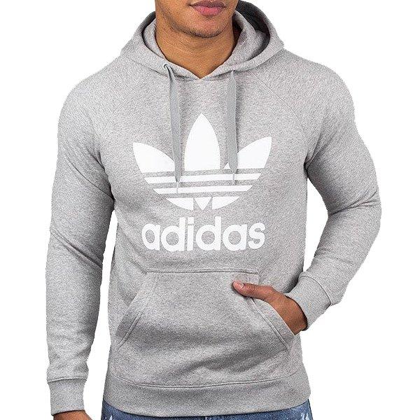 Adidas Originals szara męska bluza Orig 3Foil Hood AY6472