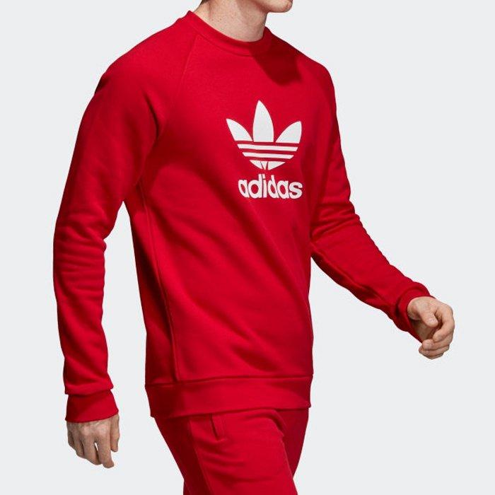 adidas originals czerwona bluza bez kaptura