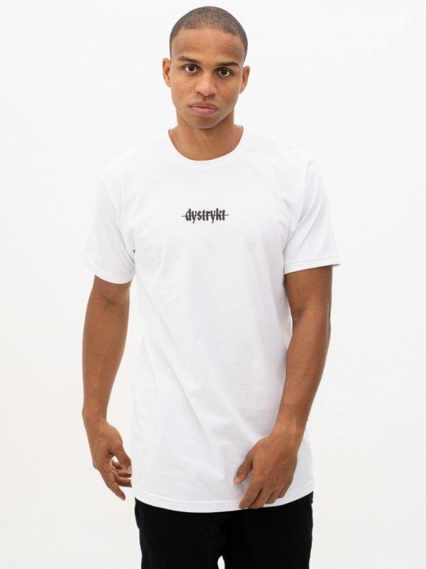 Koszulka Dystrykt Mini Script Biała/Czarna
