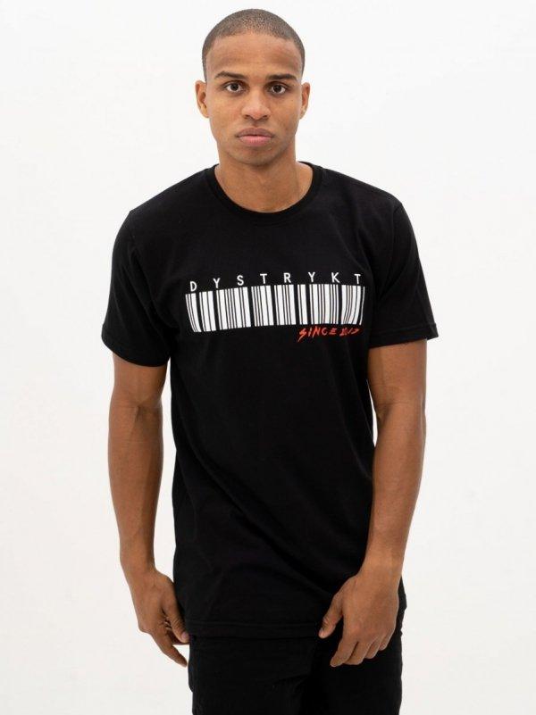 Koszulka Dystrykt Bar Code Czarna/Biała
