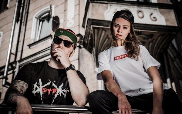 Koszulka Dystrykt Scratch Biała/Czarna