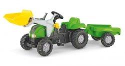 Rolly Toys Traktor Kid Zielony z Przyczepą Łyżką