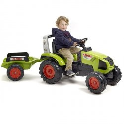 FALK Traktor CLAAS AXOS 330 z Przyczepą