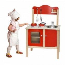 VIGA Kuchnia z Akcesoriami Czerwona
