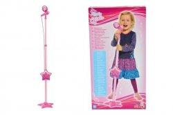 SIMBA MMW Różowy mikrofon na stojaku