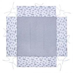 Lulando Kojec 100x100 szary w białe gwiazdki+biały w szare chmurki