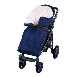 Lulando Zimowy śpiwór do wózka dla dzieci PIK granat