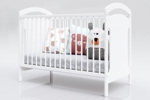 Łóżeczko niemowlęce tapczan 2w1 ADAŚ biały 120x60