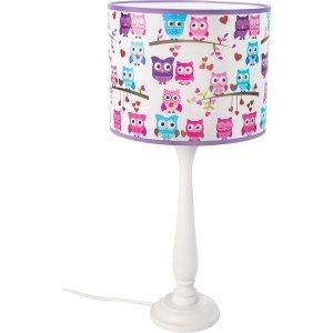 Lampka nocna Berta sowy kolorowa