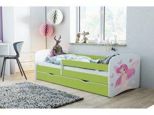Łóżko dziecięce WRÓŻKA Z MOTYLKAMI 180x80 różne kolory