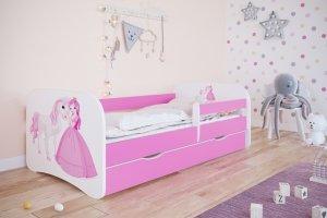Łóżko dziecięce KSIĘŻNICZKA I KONIK różne kolory 180x80 cm