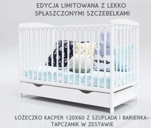 EDYCJA LIMITOWANA ŁÓŻECZKO KACPER 120X60 Z SZUFLADĄ I BARIERKĄ