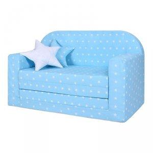 LULANDO Sofa classic - Gwiazdki białe na niebieskim tle