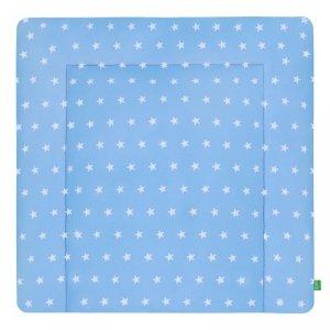 LULANDO Mata na przewijak 2 frotty 75x85 cm - Gwiazdki białe na niebieskim
