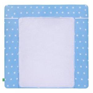 LULANDO Mata na przewijak 2 frotty 75x80 cm - Gwiazdki białe na niebieskim