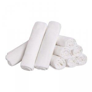LULANDO  Pieluszki tetrowe 80x80 cm - Białe 10 pack (karton)