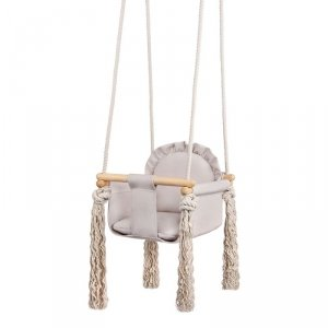 LULANDO Huśtawka dla dzieci Swing Frill - Beżowy