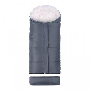 LULANDO Zimowy śpiwór do wózka dla dzieci Pik - Szary
