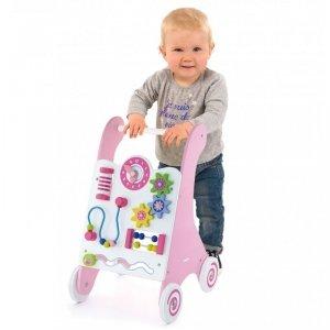 Viga Toys Pchacz Drewniany Edukacyjny Różowy