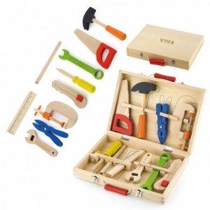Drewniany Skrzynka Walizka z Narzędziami Zestaw Małego Majsterkowicza  Viga Toys