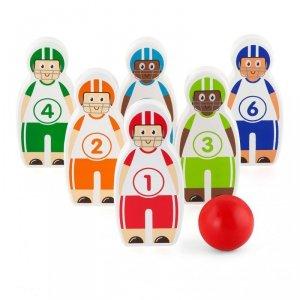 Drewniana Gra Zręcznościowa  Kręgle Piłkarzyki Baseball Viga Toys