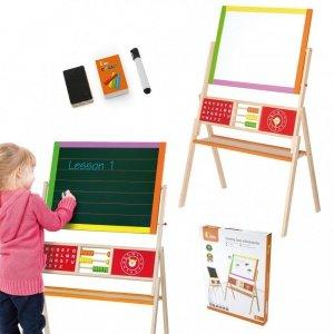 Dwustronna Tablica edukacyjna do rysowania z liczydłem Viga Toys