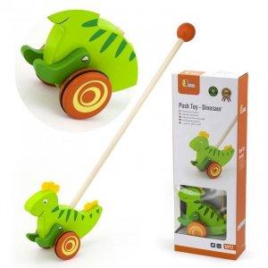 Viga Toys Drewniany Pchacz Dinozaur