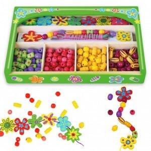 Koraliki Do Nawlekania Kolorowe Stwórz Bransoletkę Biżuteria Viga Toys