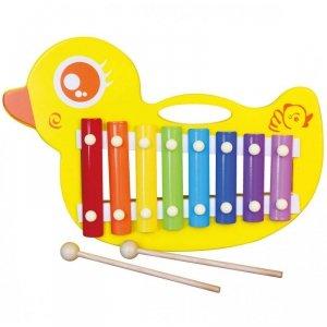 Drewniane Cymbałki kaczuszka Viga Toys