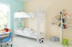 Łóżko piętrowe DOMEK różne kolory