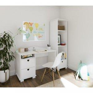 Biurko dziecięce SERCA z dwiema szufladami - różne kolory