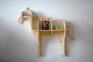 Półka dziecięca na ścianę koń