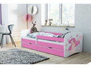 Łóżko dziecięce WRÓŻKA Z MOTYLKAMI 160x80 różne kolory