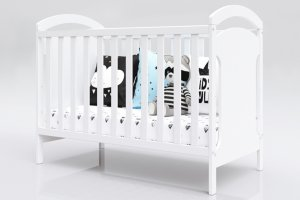 Łóżeczko niemowlęce tapczan 2w1 ADAŚ 2 biały 120x60