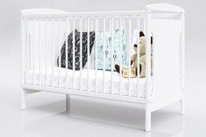 Łóżeczko niemowlęce tapczan 2w1 JAŚ biały 120x60