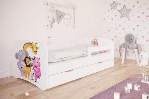 Łóżko dziecięce ZOO różne kolory 180x80 cm