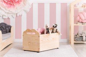 Drewniana skrzynia na zabawki KUTU 3