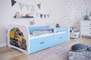 Łóżko dziecięce CIĘŻARÓWKA rózne kolory 180x80 cm