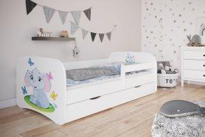 Łóżko dziecięce SŁONIK różne kolory 140x70 cm