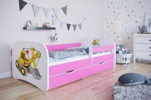 Łóżko dziecięce KOPARKA różne kolory 180x80 cm