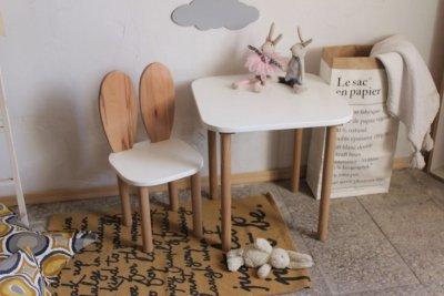 Komplet dziecięcy krzesełko królik + stoliczek