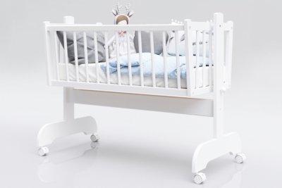 Kołyska niemowlęca KAROL biała 90x40