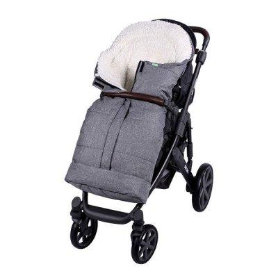Lulando Zimowy śpiwór do wózka dla dzieci PIK szary melanż