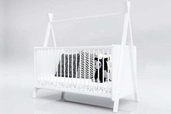 Łóżeczko niemowlęce tapczan 2w1 140x70 TIPI BARIERKA GRATIS